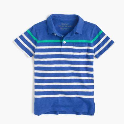 Boys' polo shirt in stripes