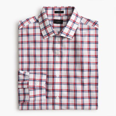 Ludlow shirt in red and blue tattersall