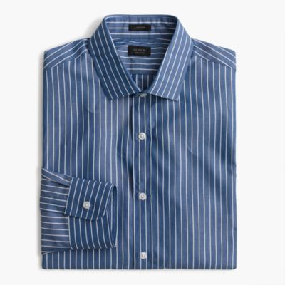 Ludlow shirt in blue and white stripe