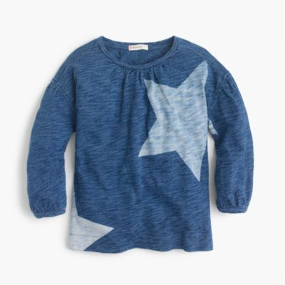 Girls' indigo stars top