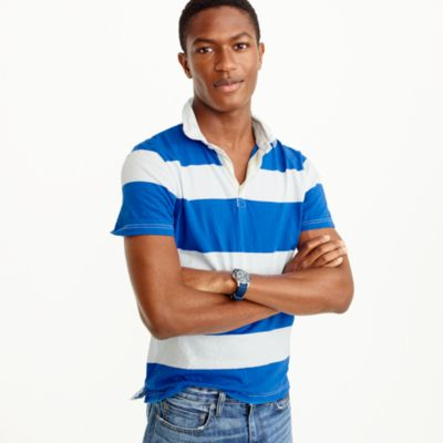 Short-sleeve rugby polo shirt