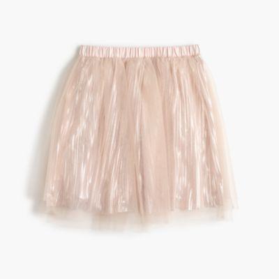 Girls' shimmer tulle skirt