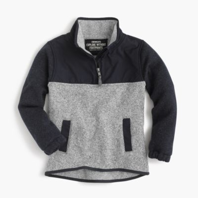 Boys' summit fleece half-zip sweater