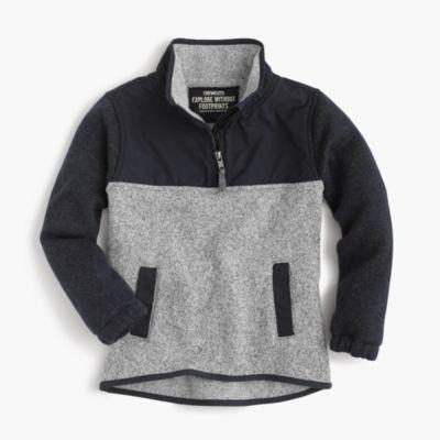 Boys' summit fleece half-zip sweater
