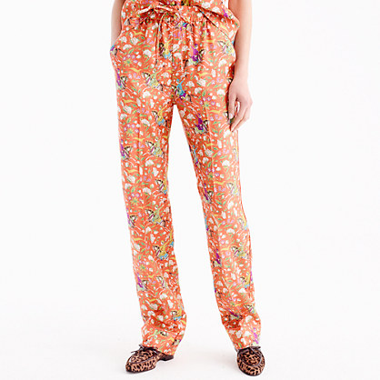 Collection Drake's® for J.Crew silk pant