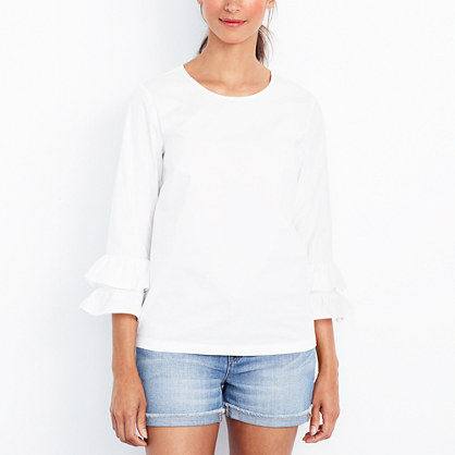 Double ruffle-sleeve top