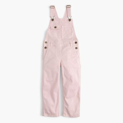 Girls' stretch chino overalls
