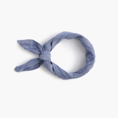 Chambray bandana with eyelet