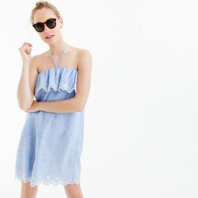 Eyelet beach dress