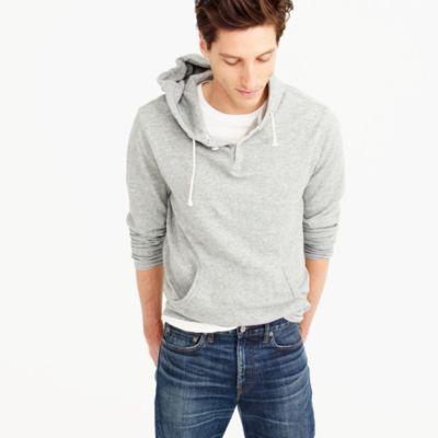Thermal henley hoodie