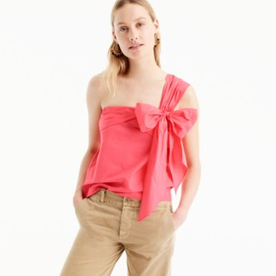 One-shoulder bow top