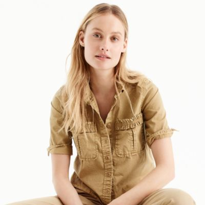 Boy-meets-girl utility shirt