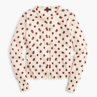 Jackie cardigan sweater in sequin polka dot