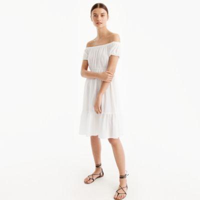 Textured off-the-shoulder beach dress