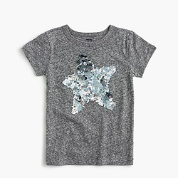 Girls' sparkly star T-shirt