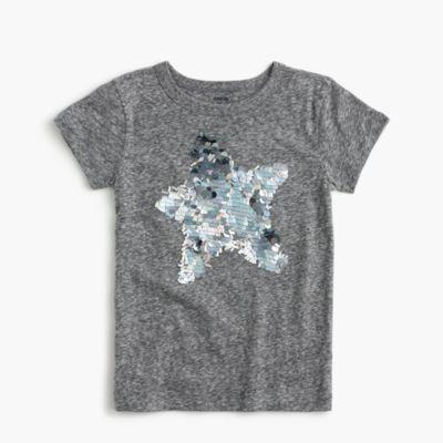Girls' sparkly star T-shirt