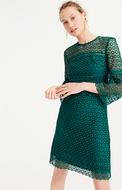 Bell-sleeve daisylace dress