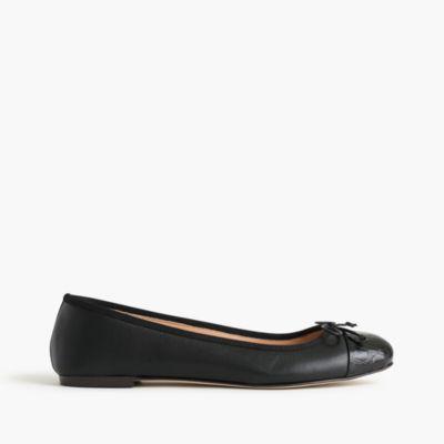 Lily cap-toe ballet flats