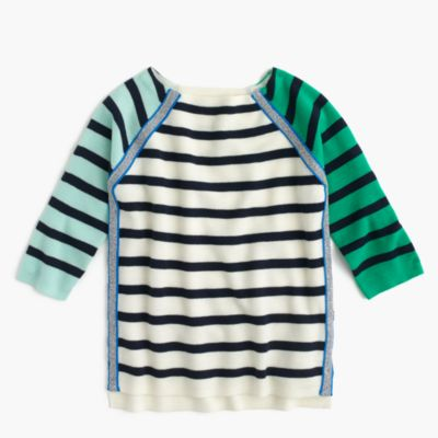 Girls' sparkle and stripe sweater