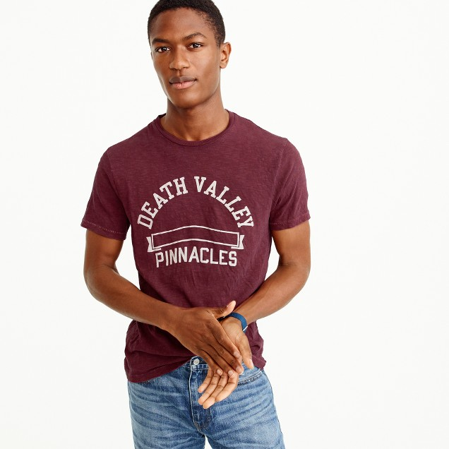 Garment-dyed Death Valley graphic T-shirt