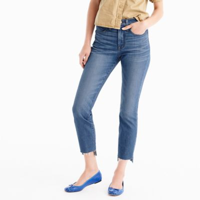 Tallvintage crop jean in Morton wash with step-hem
