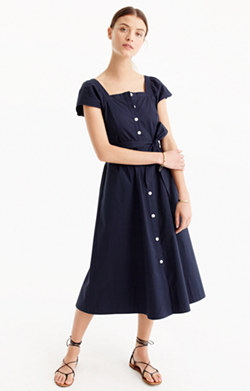 Petite short-sleeve shirtdress