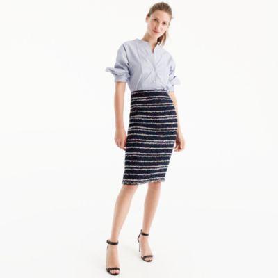 Pencil skirt in navy party tweed