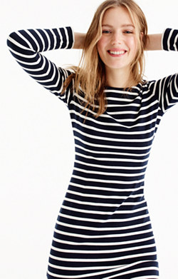 Long-sleeve striped dress