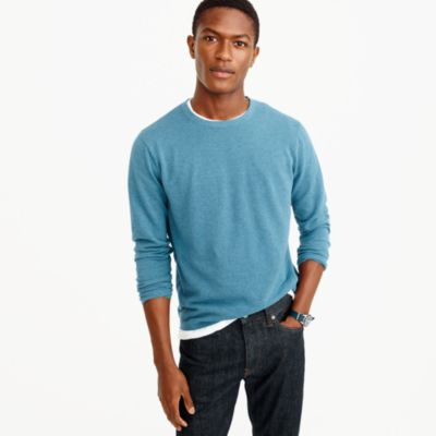 Cotton-cashmere piqué crewneck sweater