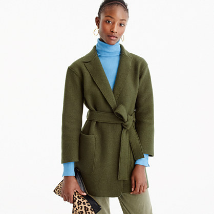 b9d0589d26bbdf Wrap coat in boiled wool