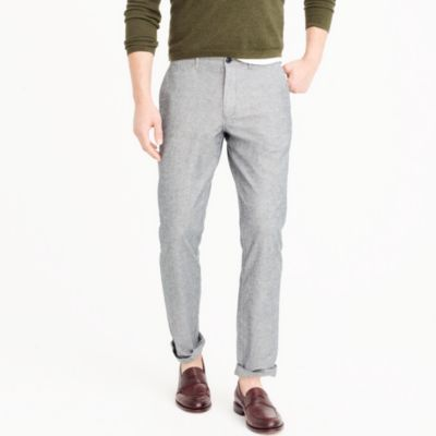 Stretch chambray pant in 770 straight fit