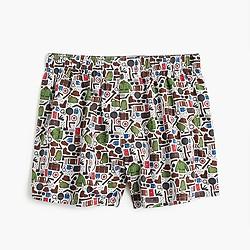 Camping print boxers