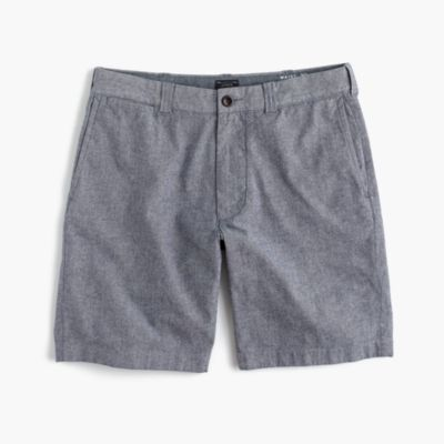 "9"" stretch short in chambray"
