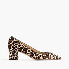 Avery calf hair pumps - BROWN IVORY