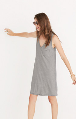 Madewell swingy tank dress in stripe