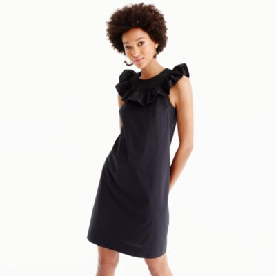 Ruffle-neck dress