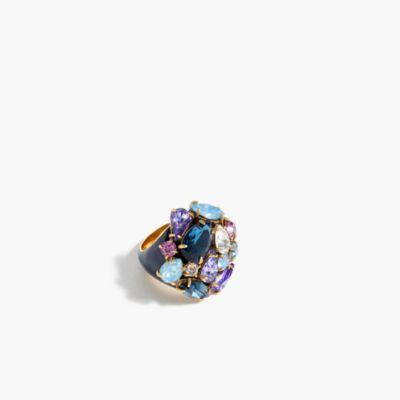 Dome gem cluster ring