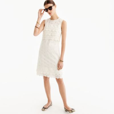 Tall tiered eyelet dress