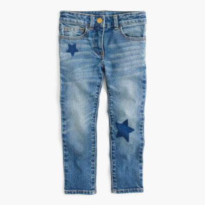Girls' star-print jeans
