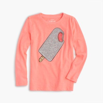 Girls' sparkle popsicle T-shirt