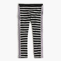 Girls' everyday leggings with tux stripe