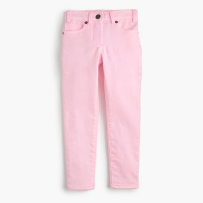 Girls' garment-dyed  runaround  jeans