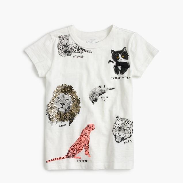 Girls' cats T-shirt