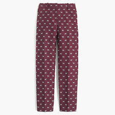 Cropped pant in terrier jacquard - TERRIERS