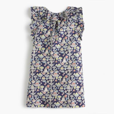Girls' ruffle Liberty® print dress