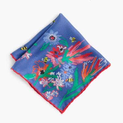 J.Crew for Buglife™ Italian silk pocket square