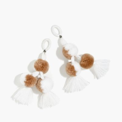 Nannacay for J.Crew pom-pom earrings