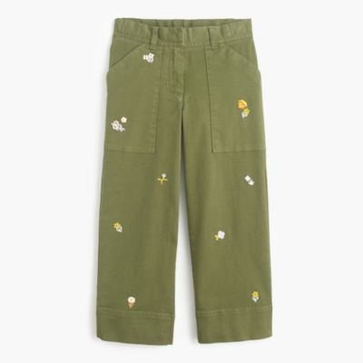 Girls' wide-leg critter pants