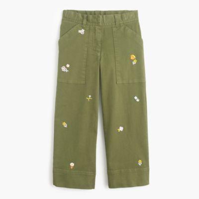 Girls' wide-leg critter pants