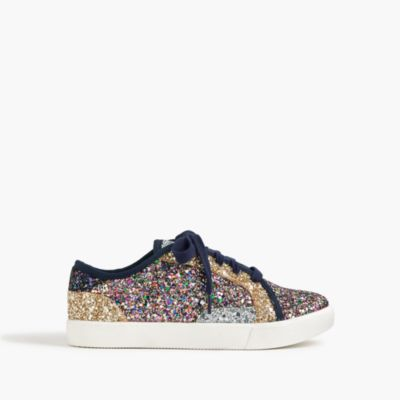 Kids' glitter lace-up sneakers